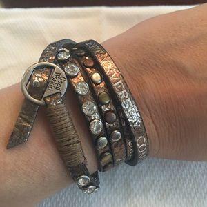 Jewelry - Good Works Leather strap bracelet
