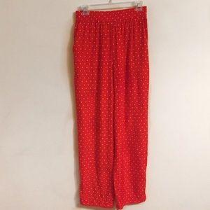 Vintage Red and White Polka Dot Pants Medium