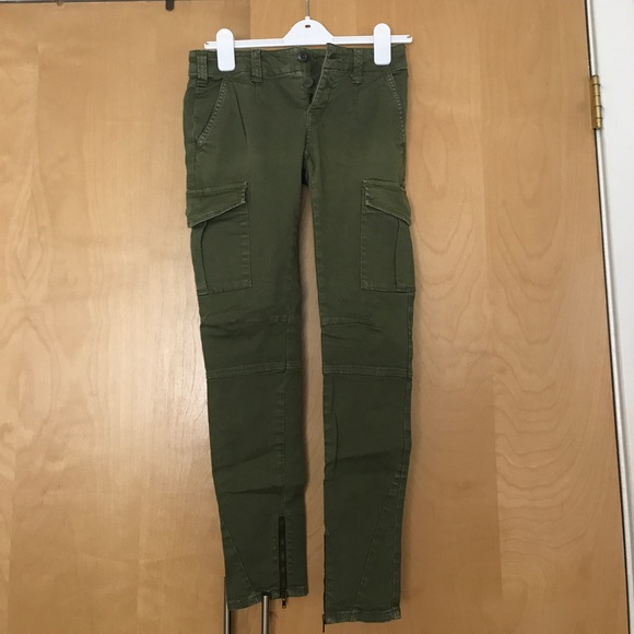 Free People Pants Cargo In Dark Green Poshmark