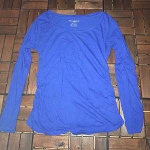 Liz Lang maternity blue long sleeve shirt M