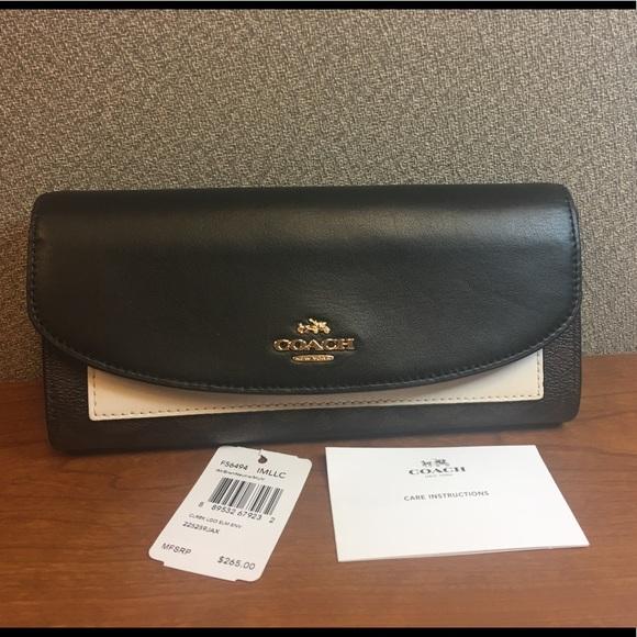 NWT COACH Colorblock Signature Slim Wallet