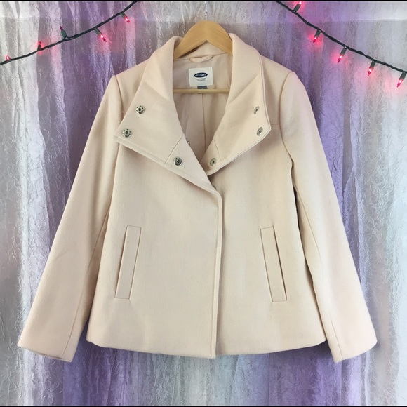 fdf1b3b5272 Old Navy Pastel Pink Wool Blend Pea Coat Medium