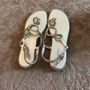 Sole Society gold sandals