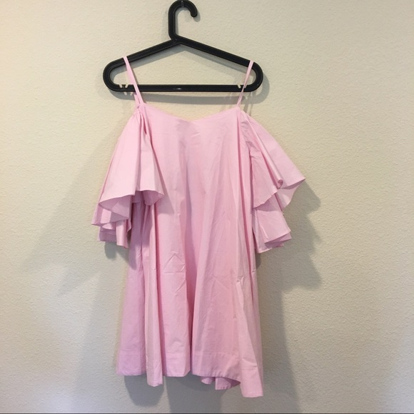 NWT Chicwish Off The Shoulder Pink Ruffle Top