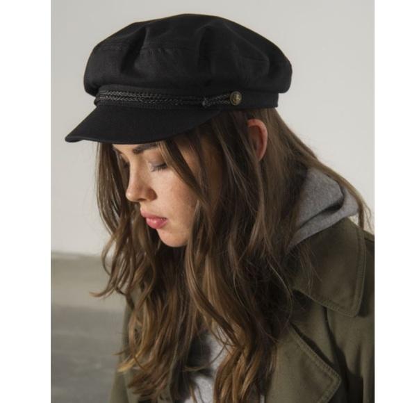 Brixton Black Fiddler Cap (Never Worn) 83d378ee4b6d