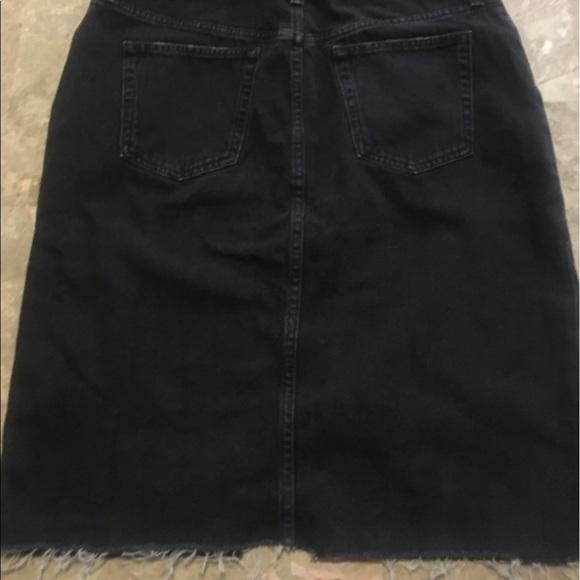 h m h m black denim knee length skirt from s