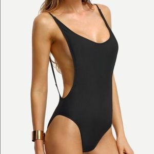 Other - New unworn black backless one piece bathing suit S