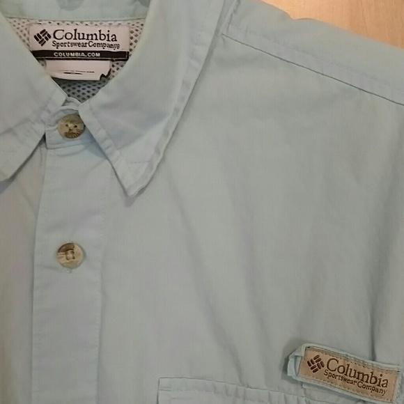 Columbia light blue short sleeve fishing shirt from for Toddler columbia fishing shirt