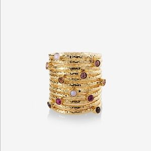 Express Jewelry - Set Of 6 Stone Embellished Rings