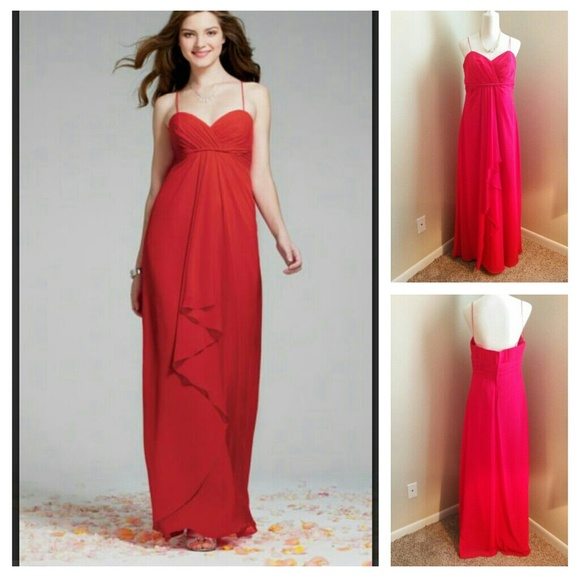 Alfred Angelo Dresses & Skirts - Alfred Angelo dress sz16 bridesmaid red style 7241