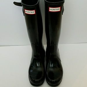 Hunter original tall gloss rain boots sz 7