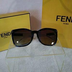FENDI Havana Blue Sunglasses