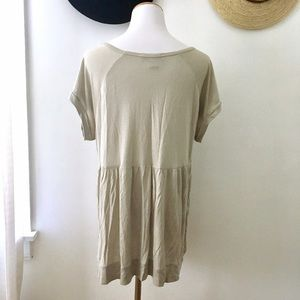 vintage America Tops - Oversized Gray Lace Detail Tunic