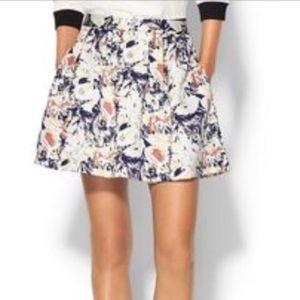 Pim + Larkin Lena Brocade Fit Flare Skirt EUC Sz M