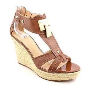 Marc Fisher gold buckle sandal