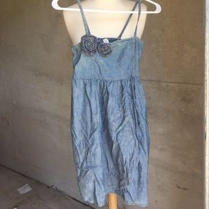 Chambray denim sleeveless dress Sz 10-12 (L) ⚡️🌹