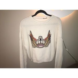 ASOS Wing Decal Knit Sweater
