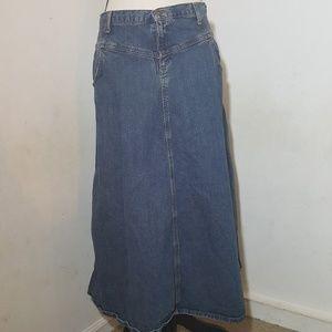 J. Crew denim skirt with pockets