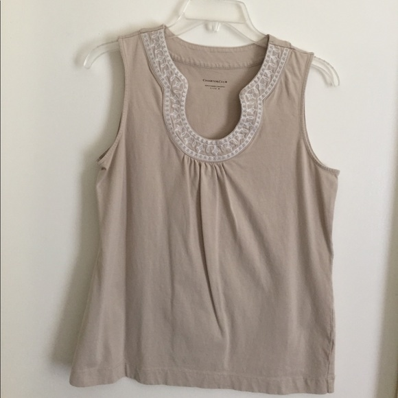 Tops - boho embroidered tank, size M - L