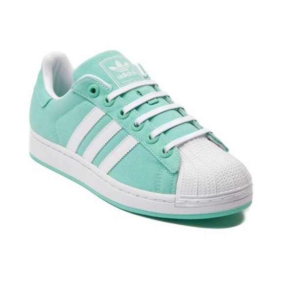 new products e751e 239cc Mint green adidas super star sneakers. adidas. M 59554e57981829f01e0005a8.  M 59554e3d36d59450420006de. M 59554e5141b4e08b97000908