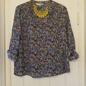 Old Navy Tops - Comfy and cute OLD NAVY linen tunic floral blouse