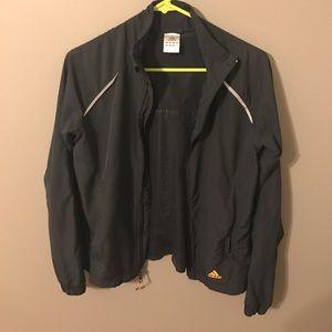 Adidas lightweight jacket - charcoal and orange