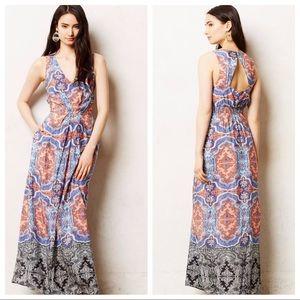 saleMaeve Medallion-cut long gown dress floral