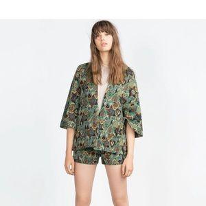 Zara printed kimono Sz L
