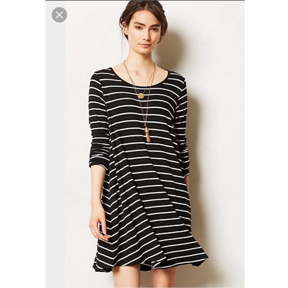 98f54604c55c0 Anthropologie Dresses & Skirts - Anthropologie Puella Striped Savant Swing  Dress
