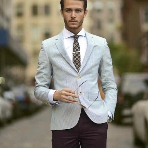 Burberry Suits Blazers Mens Seersucker Blazer Poshmark