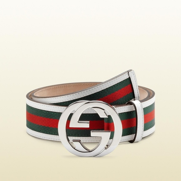 49 off gucci other white green and red gucci belt