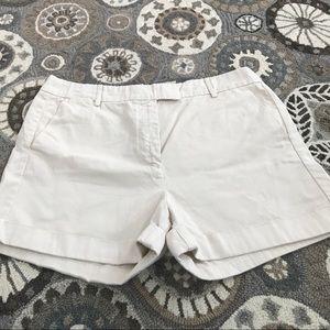 J.Crew cream Chino shorts