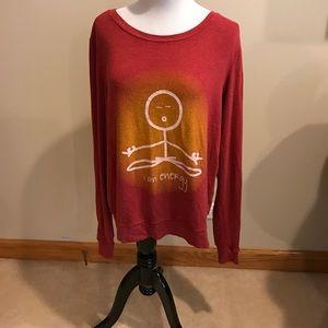 Peace Love World L I am energy sweatshirt.