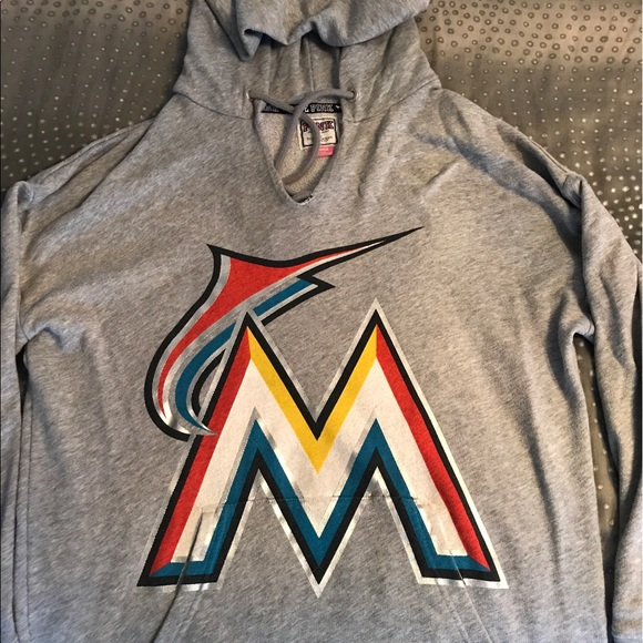 new products 33f39 6fc01 Victoria Secret/PINK - Miami Marlins hoodie