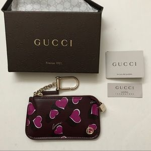 GUCCI leather bag charm made in Italy