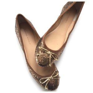 Banana Republic Bronze Brown Glitter Ballet Flats
