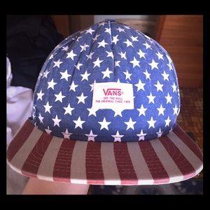 Vans American Flag Flat Bill Hat
