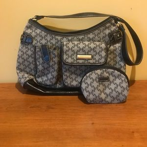 Rosetti Gray and Black Purse set