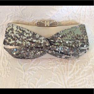 Handbags - Silver and sequin evening bag.
