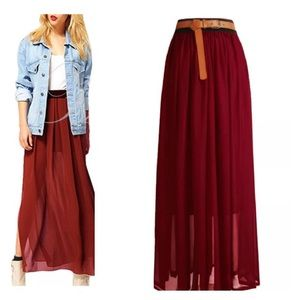 Dresses & Skirts - Pleated Maxi