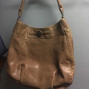 Tory Burch Leather Hobo Handbag