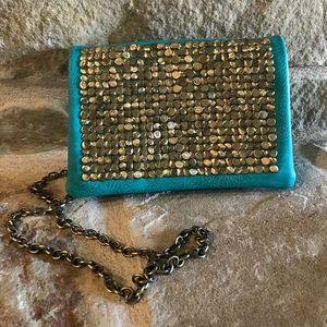 Handbags - Turquoise clutch cross body bag