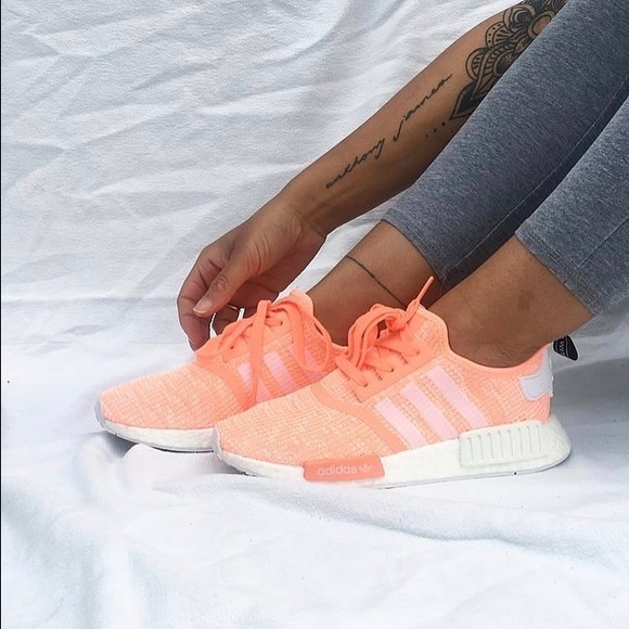 f9cb6aa84318c Adidas NMD R1 sunglow pink BY3034