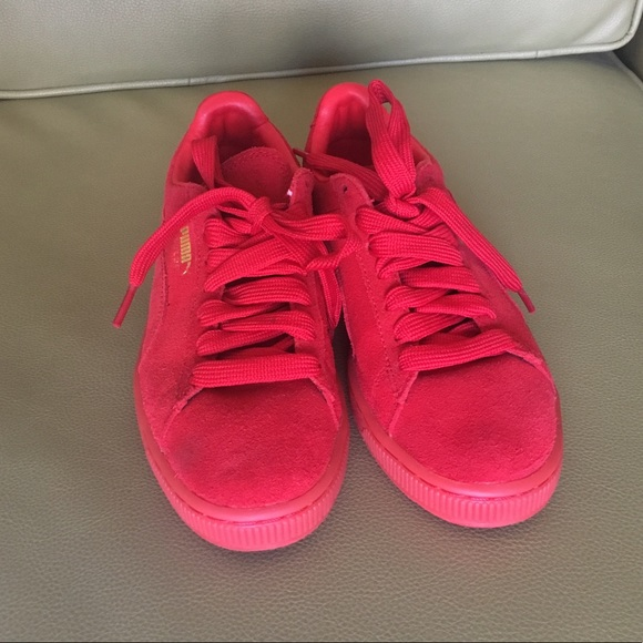 uk availability 1a12a 644ef Puma Suede Classic + Mono Iced in Red