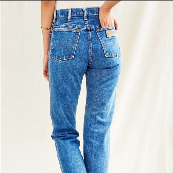 Poshmark Retro Jeans Mom High Wrangler Vintage Sky faHWpw