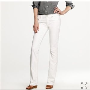 NWT J Crew White Bootcut Jeans Size 29S