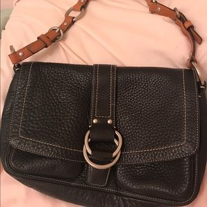 AUTHENTIC BLACK LEATHER COACH HOBO BAG
