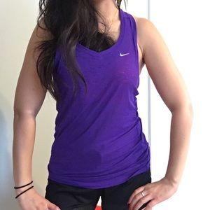 Nike Purple Sheer Dri fit Racerback tank top