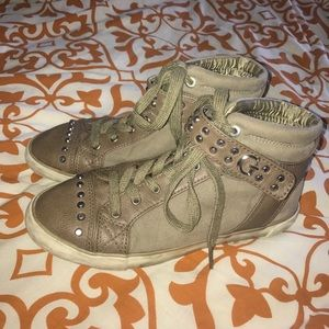 Guess Shoes - Guess Military Stud Suede Shoes