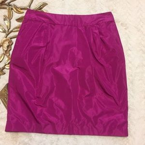 Banana Republic Pink Taffeta Skirt Size 6